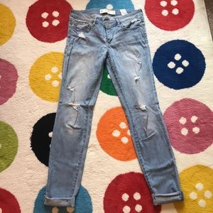 Abercrombie and Fitch Destroyed Boyfriend Jeans